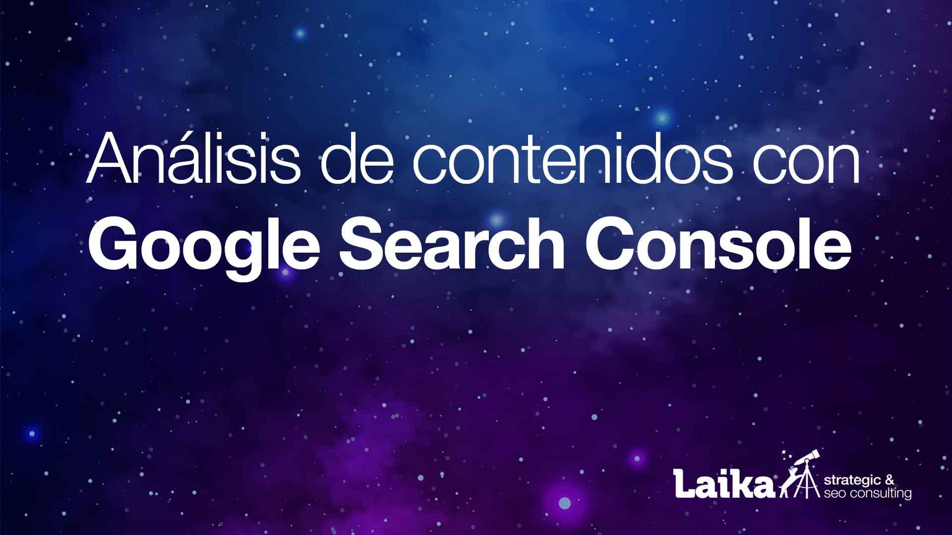 Análisis de contenidos con Google Webmaster Tools