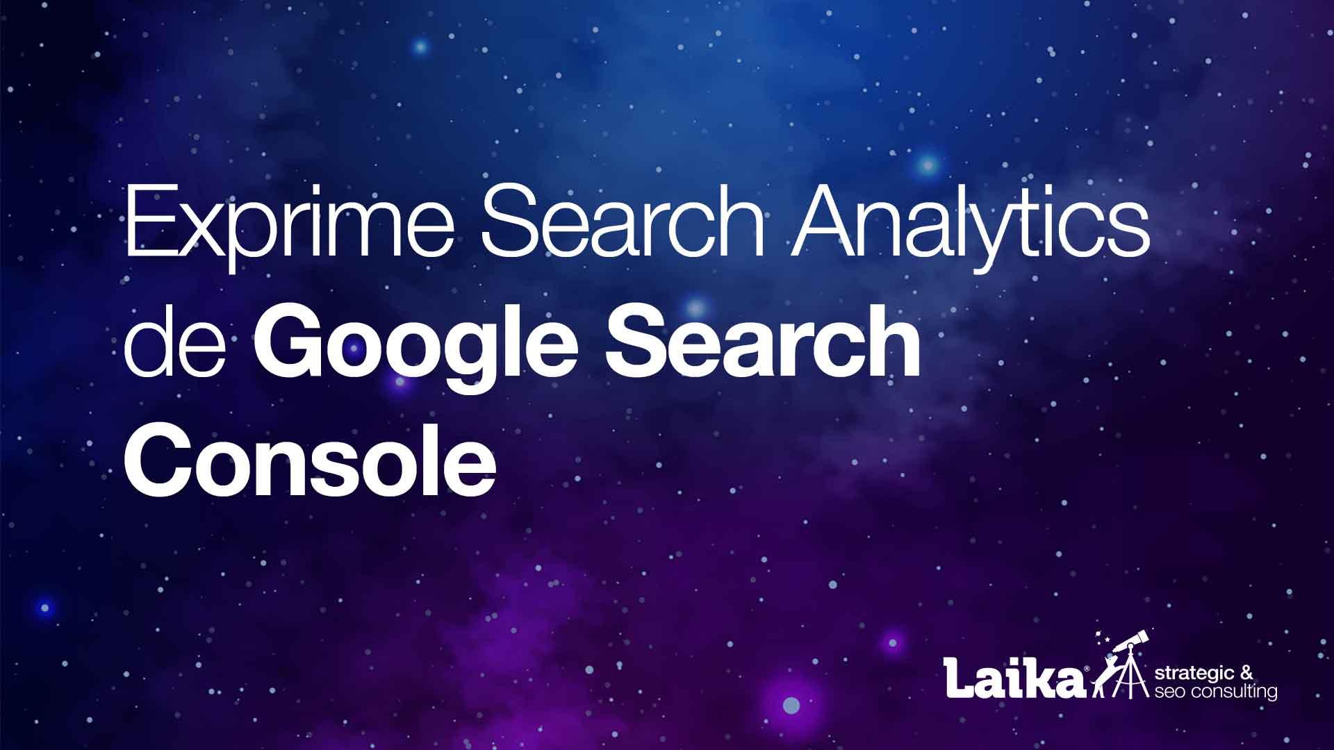 Exprime Search Analytics de Google Search Console