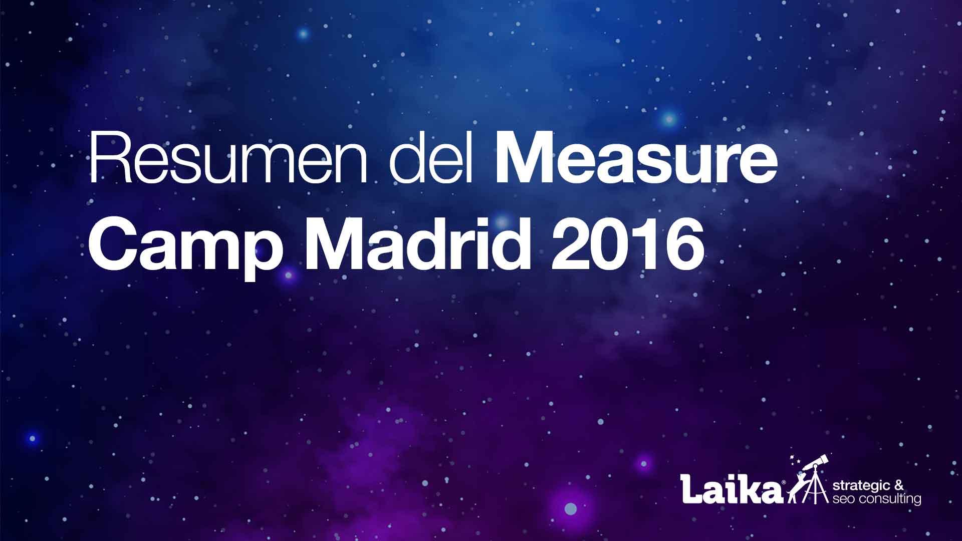 Resumen del Measure Camp Madrid 2016