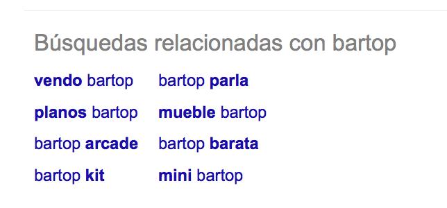 bartop google