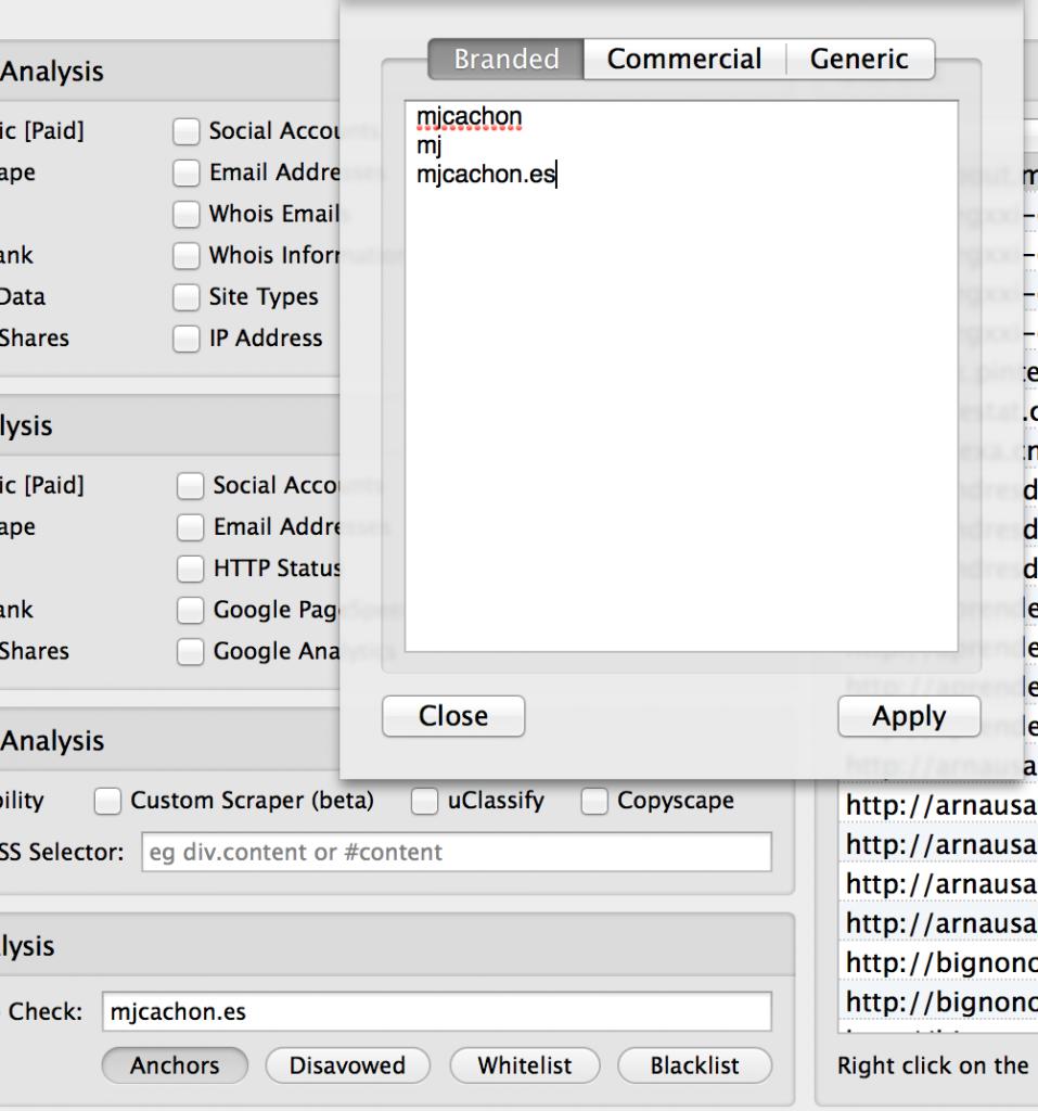 dominio enlazado urlprofiler