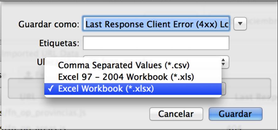 exportar errores 404