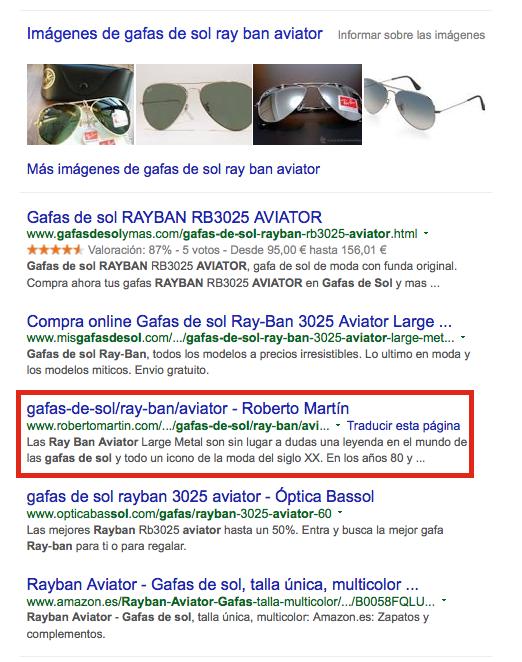 gafas de sol ray ban aviator