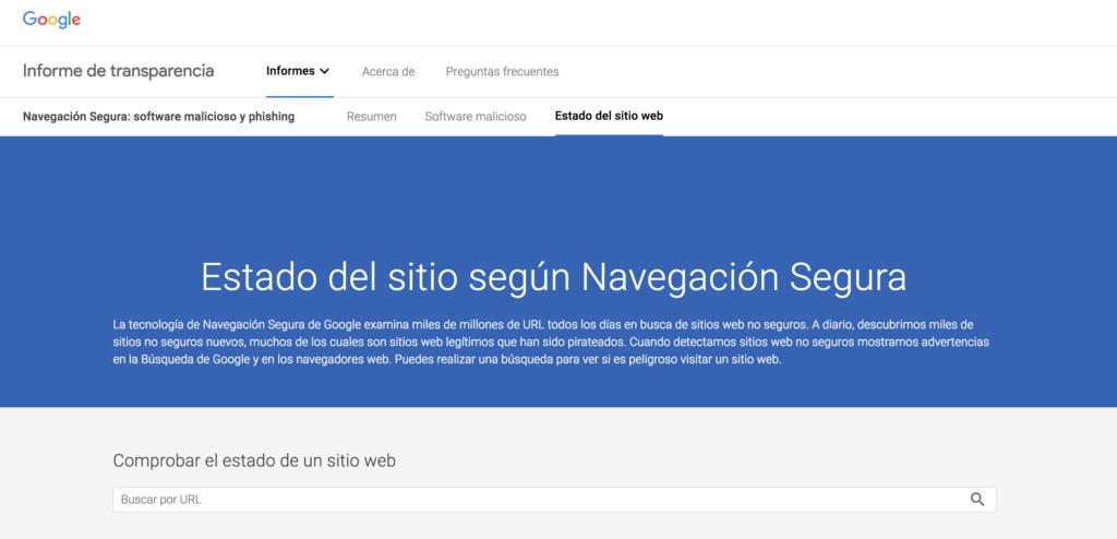 herramienta google navegación segura