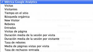 metricas analytics sistrix