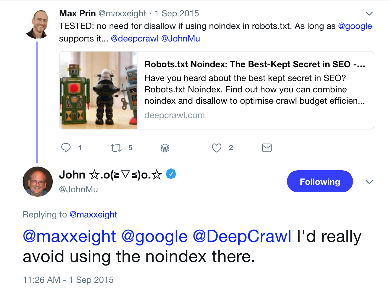 no uses noindex en robots